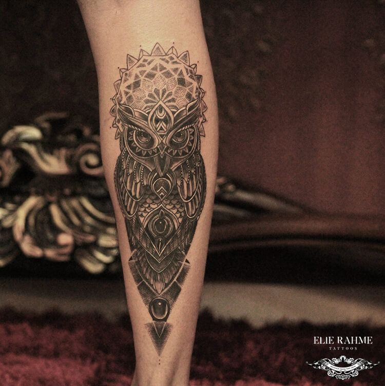 Elie Rahme Tattoos: Wise As An Owl
